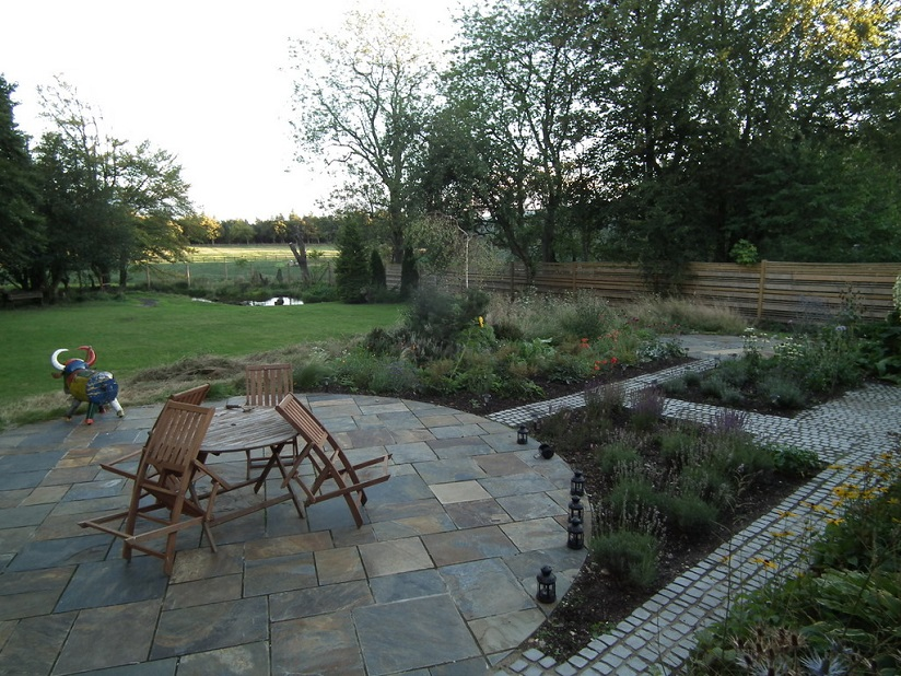 rural garden design construction Edinburgh Scotland