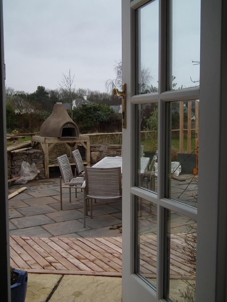 Garden Design East Lothian Of East Lothian Patio Redesign Stone Wood Water Light
