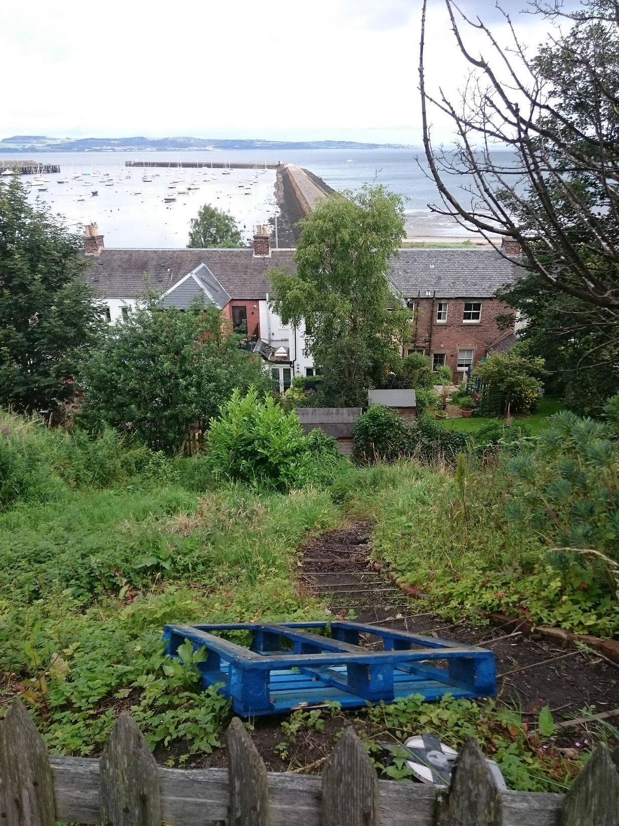 steep coastal garden Edinburgh