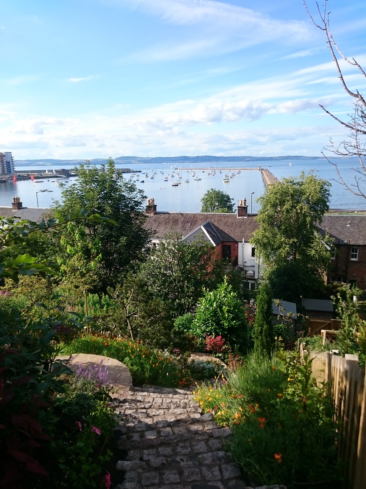 steep garden sea views Edinburgh