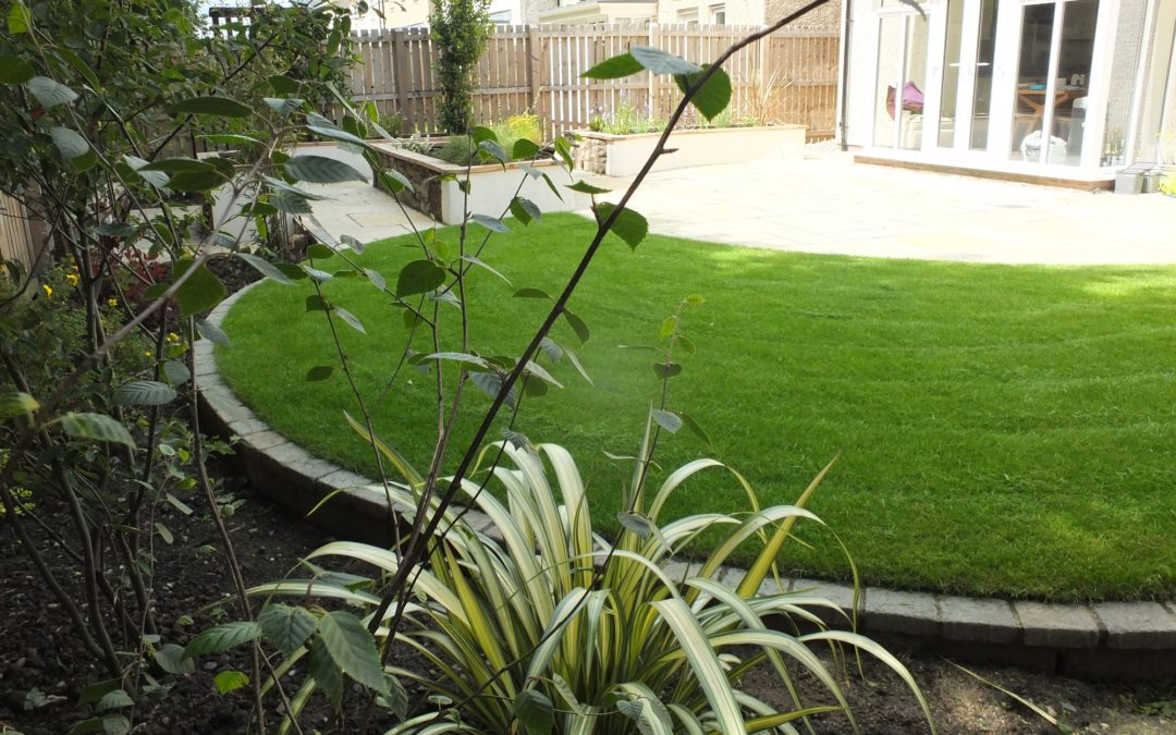 Kirkliston contemporary natural 'new build' garden design