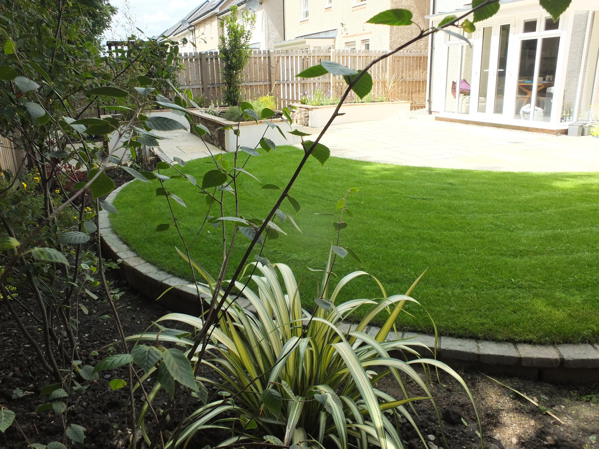 Modern back garden Kirkliston