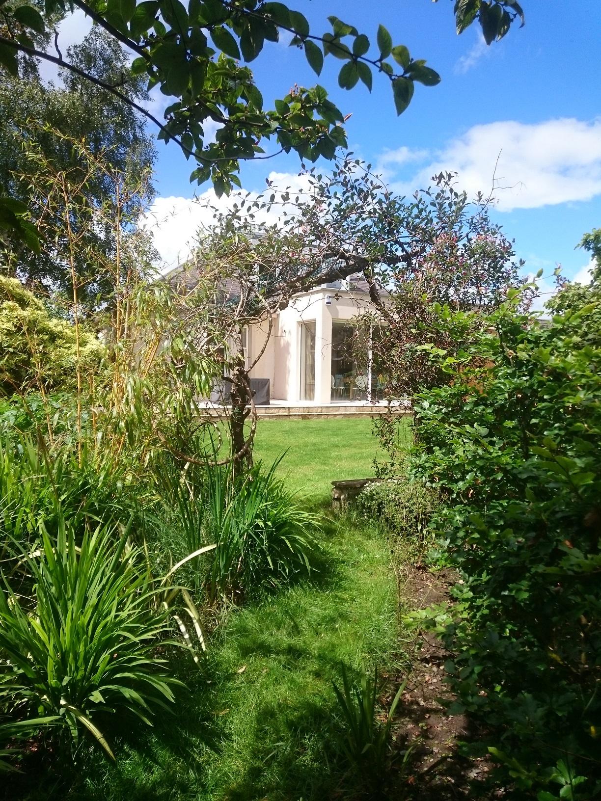 natural arch garden path
