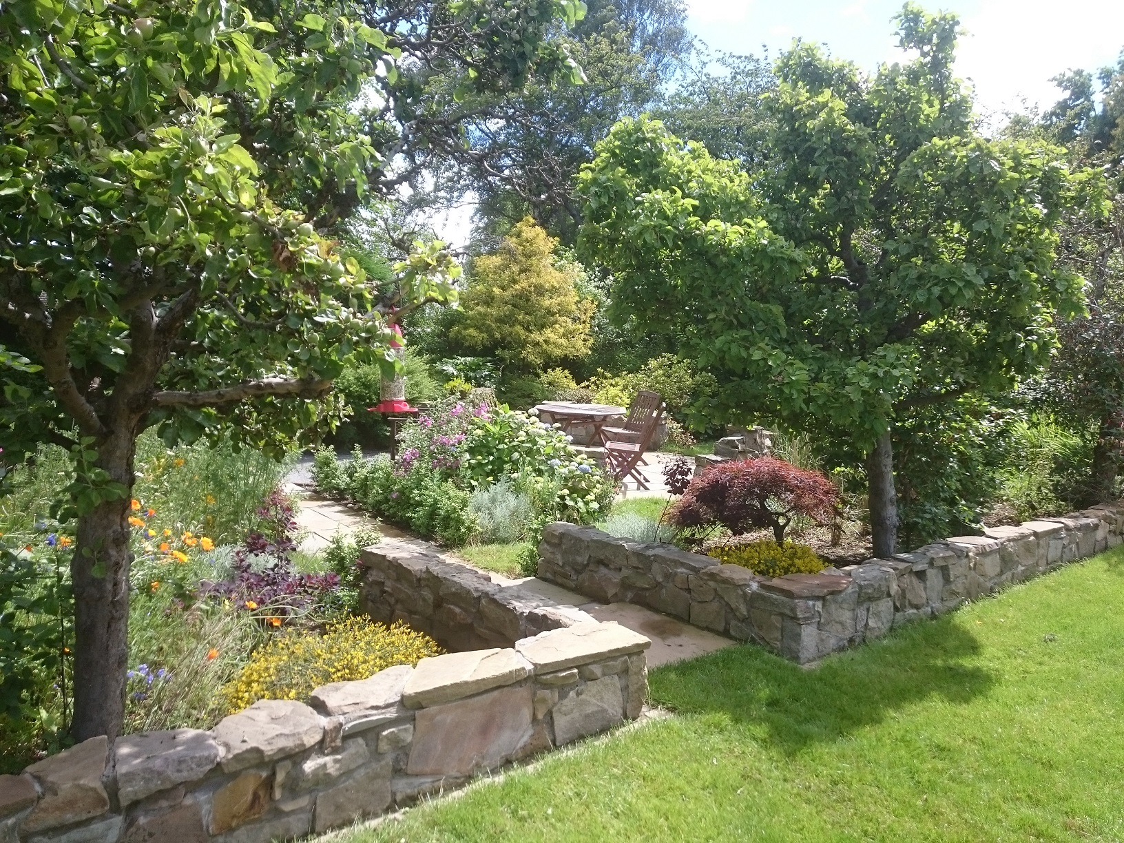 patio garden woodland Edinburgh