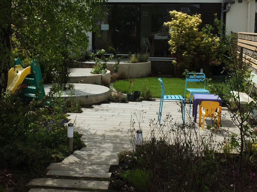 contemporary ecological garden design Edinburgh Scotland Glasgow