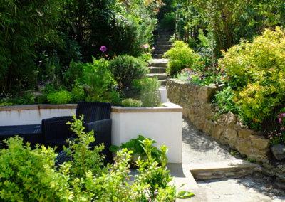 Edinburgh steep coastal garden