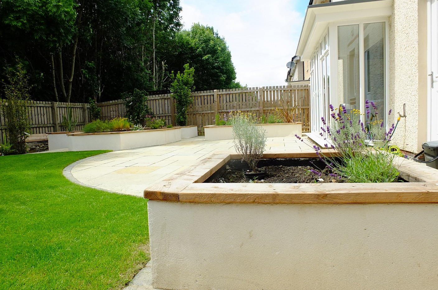 Modern naturalised garden Scotland