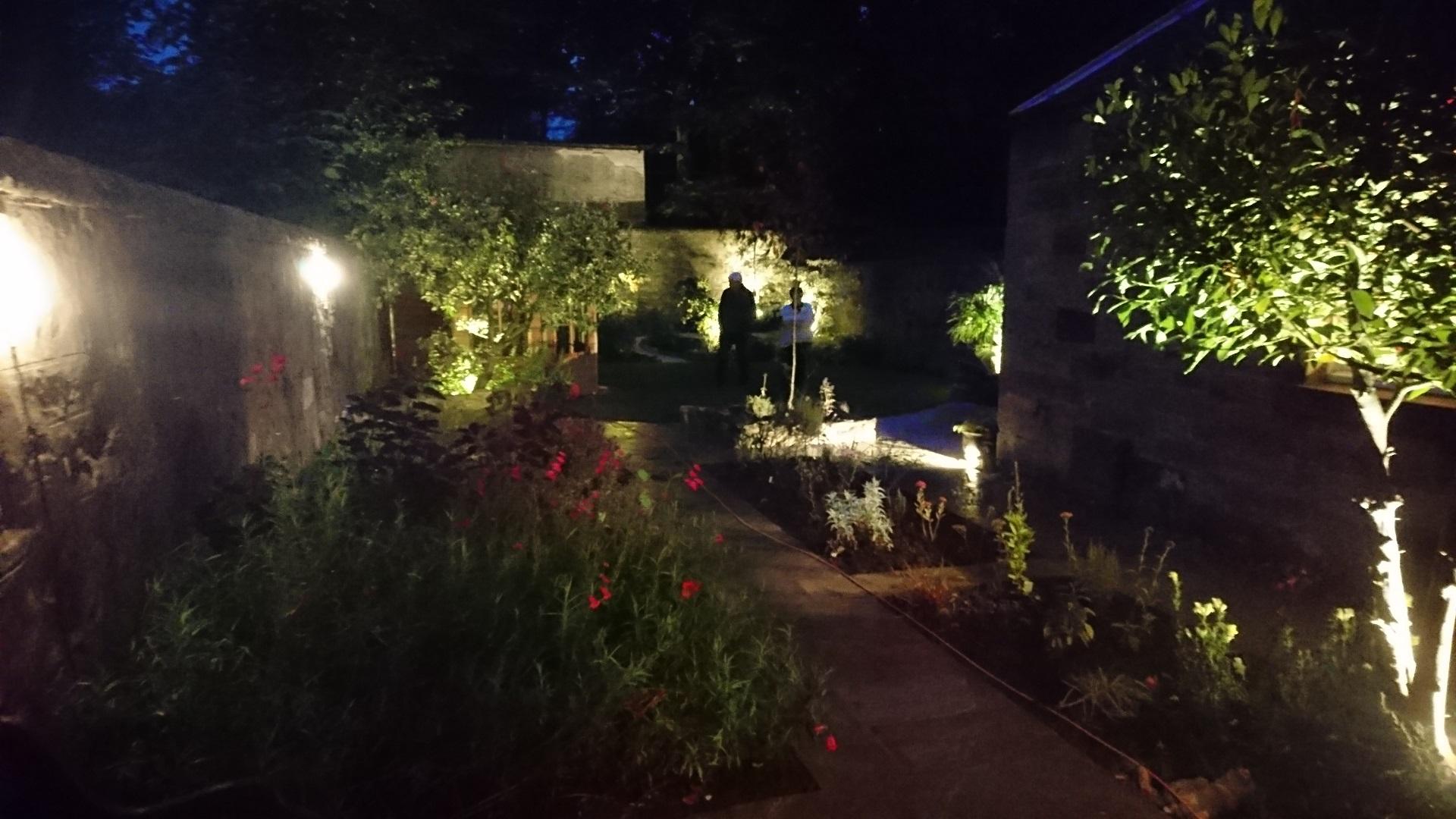 garden entertaining at night Edinburgh