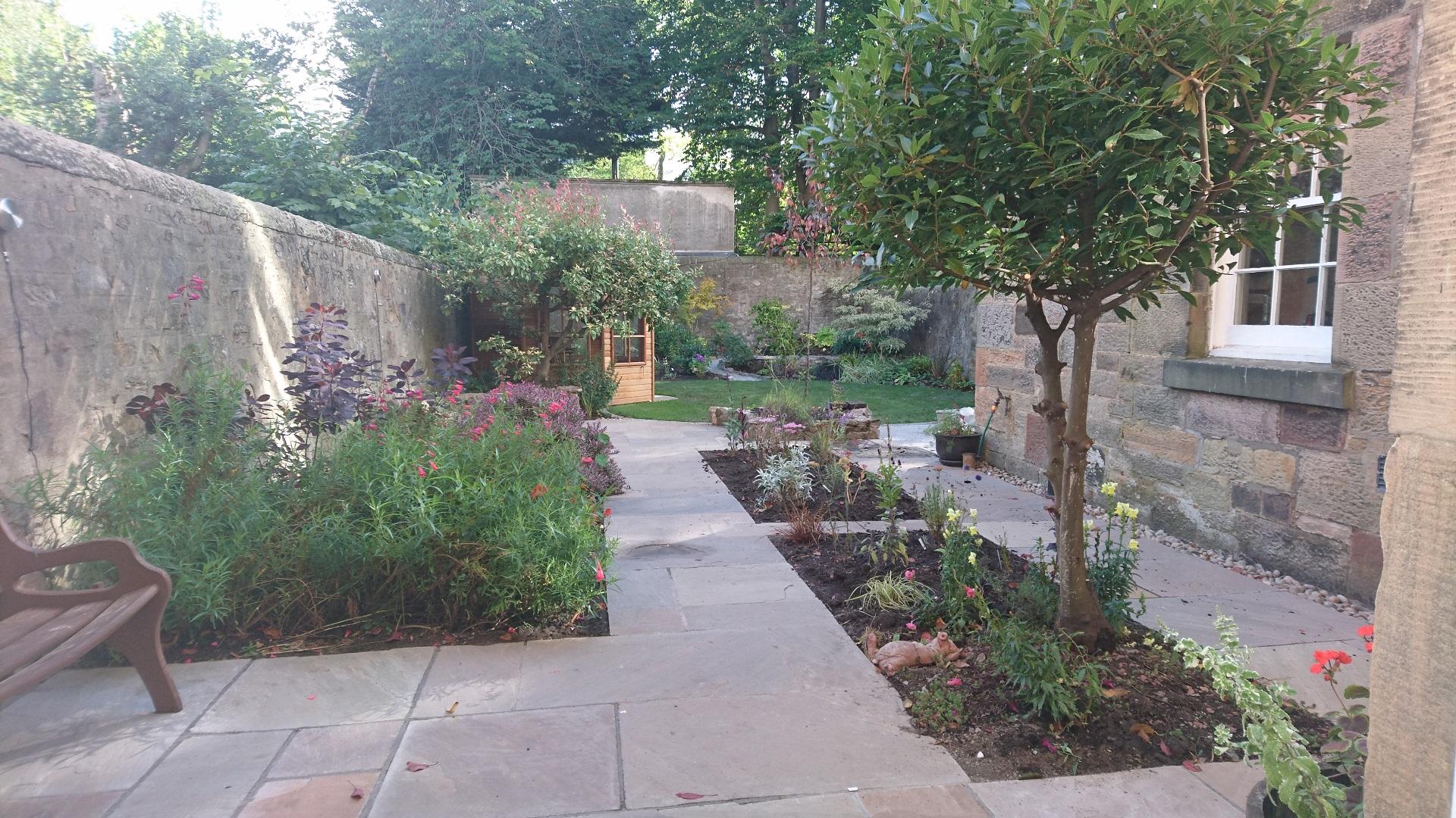 new layout old garden