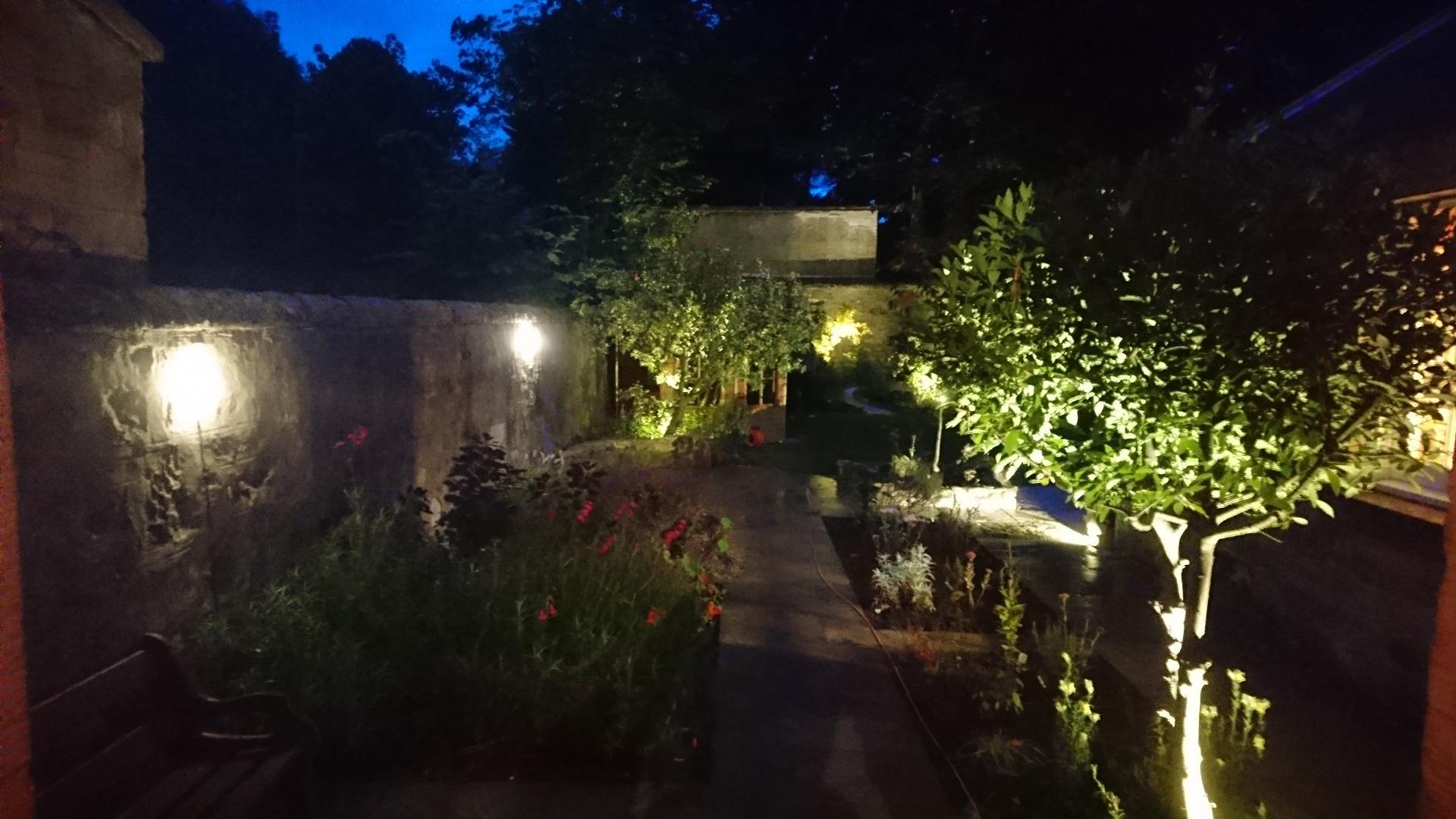 wall lights edinburgh garden design