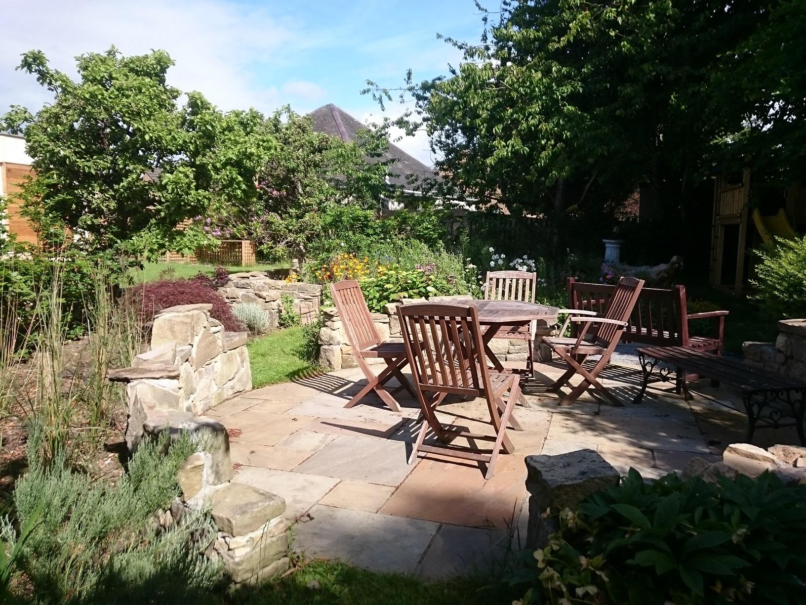 woodland patio Edinburgh garden